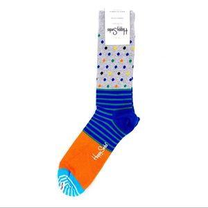 🆕 Happy Socks Dress Casual Crew Socks Striped